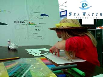 Steve Savage (with Catherine Hamblett) presents the Sea Watch Foundation Interactive Exhibition at Adur World Oceans Day