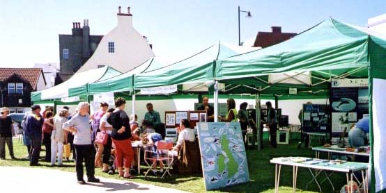 Adur World Oceans day 2002 Marquees on Coronation Green (Photograph by Duncan Morrison)