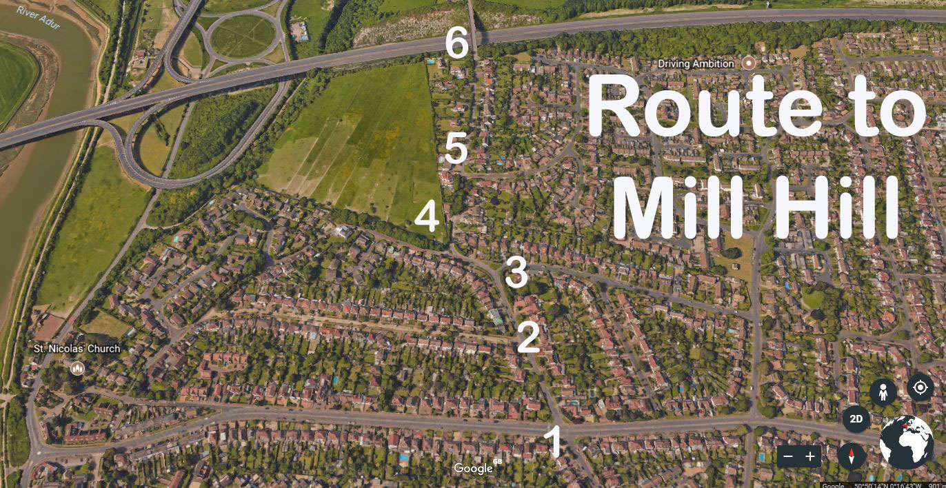 Road Routes to Mill Hill