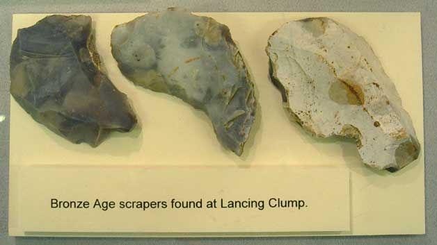 Bronze Age Scrapers from Lancing Clump