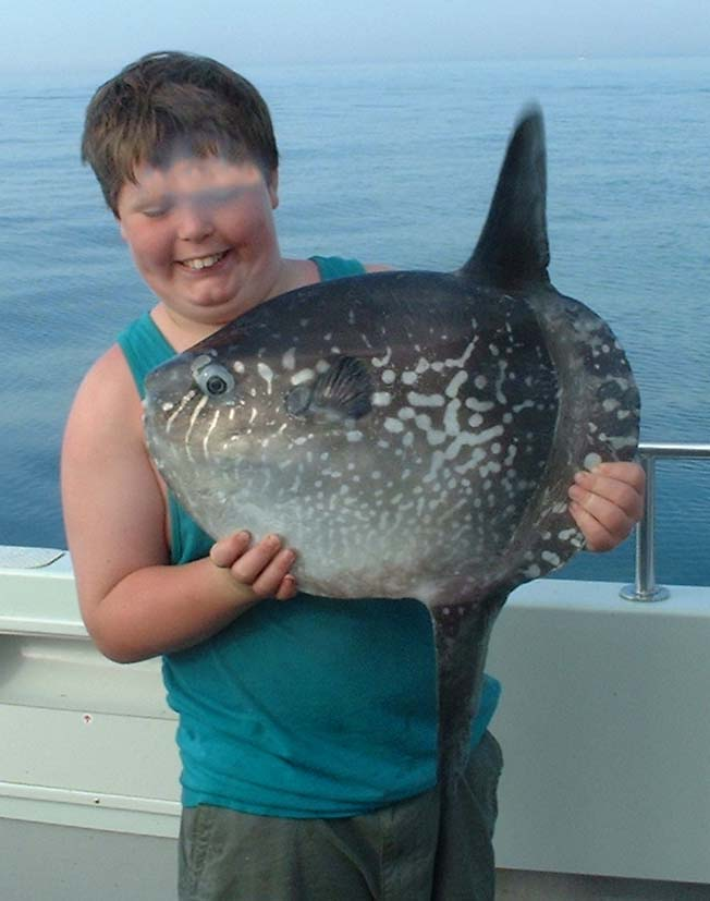 Jack Rushton with the Sunfish (Photograph by Dale Edmunds)